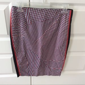 1 STATE Red/White/Blue Patterned Skirt